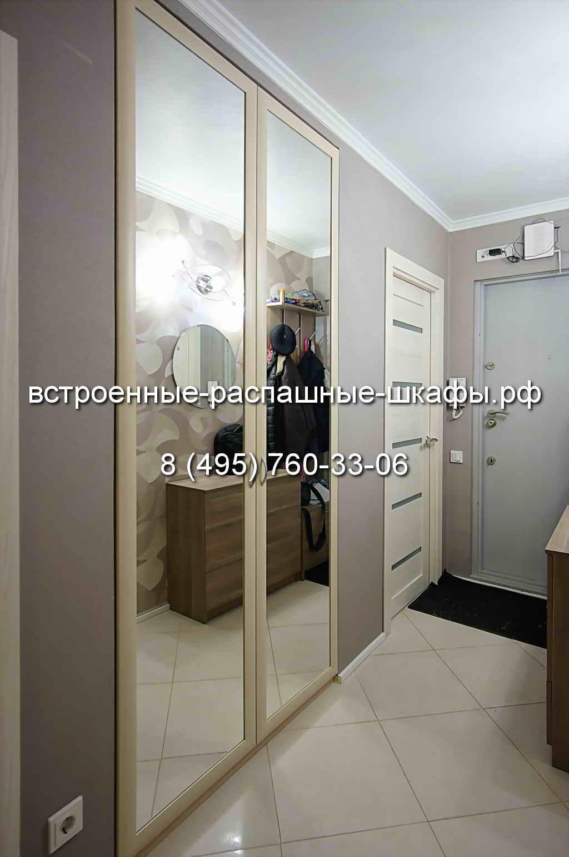 Распашные двери для шкафа с зеркалом-01 - встроенные-распашн.